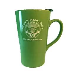Front of Mann reusable mug