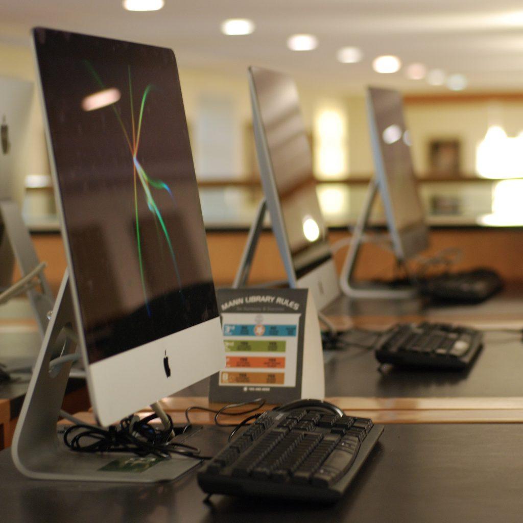 photo of desktop computers