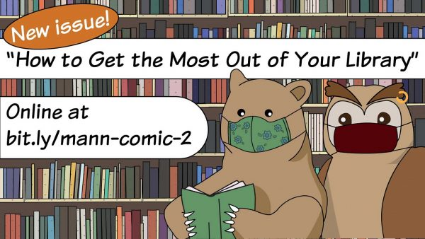 """Bear and Owl Say: """"Get the Most Out of Your Library"""""""