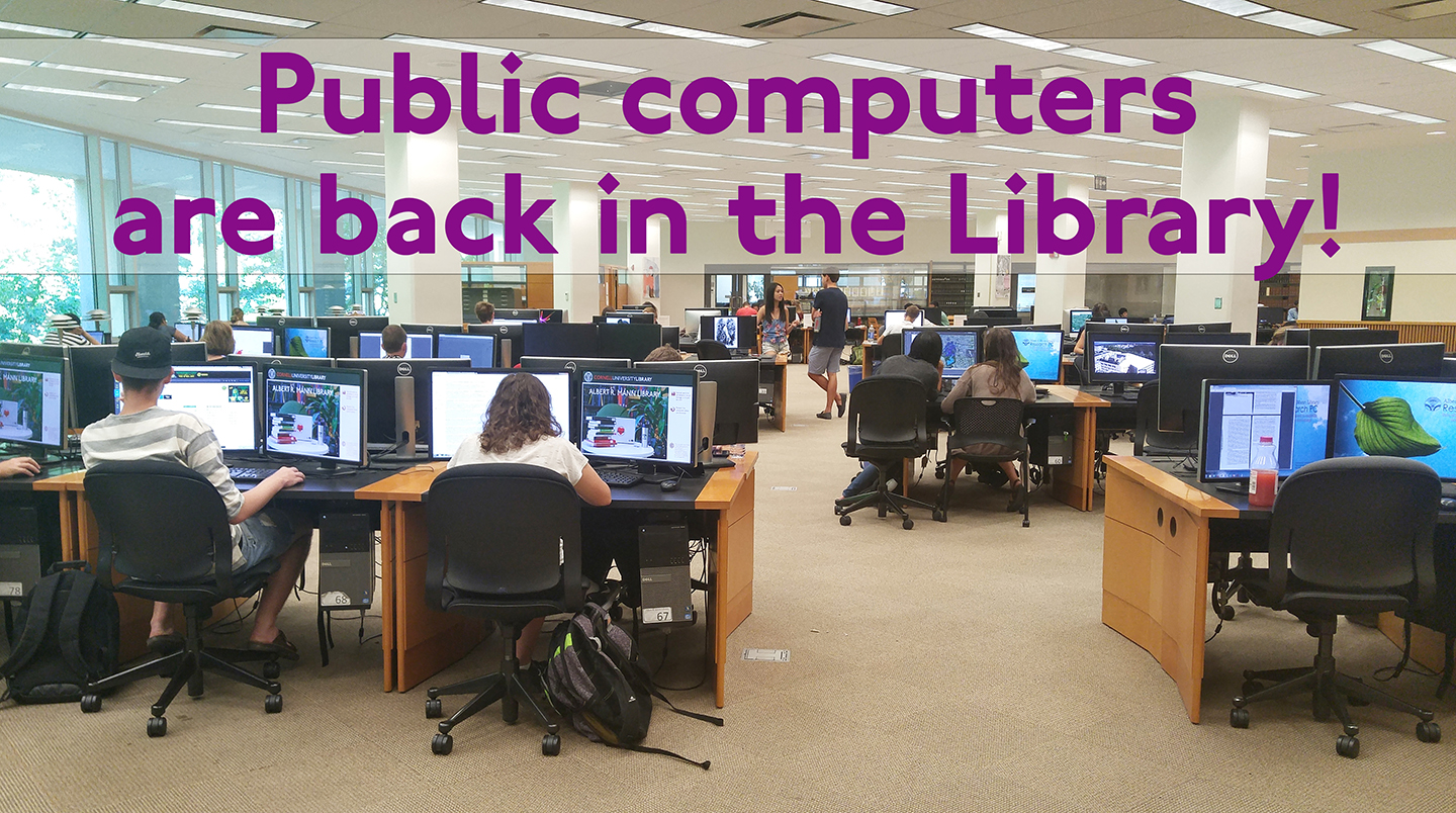 image of public computing at Mann Library