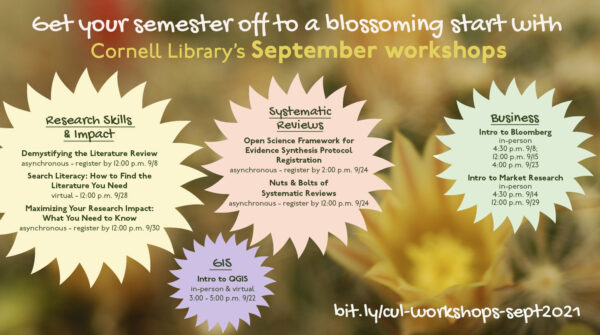 Start the school year off right with our September workshops!