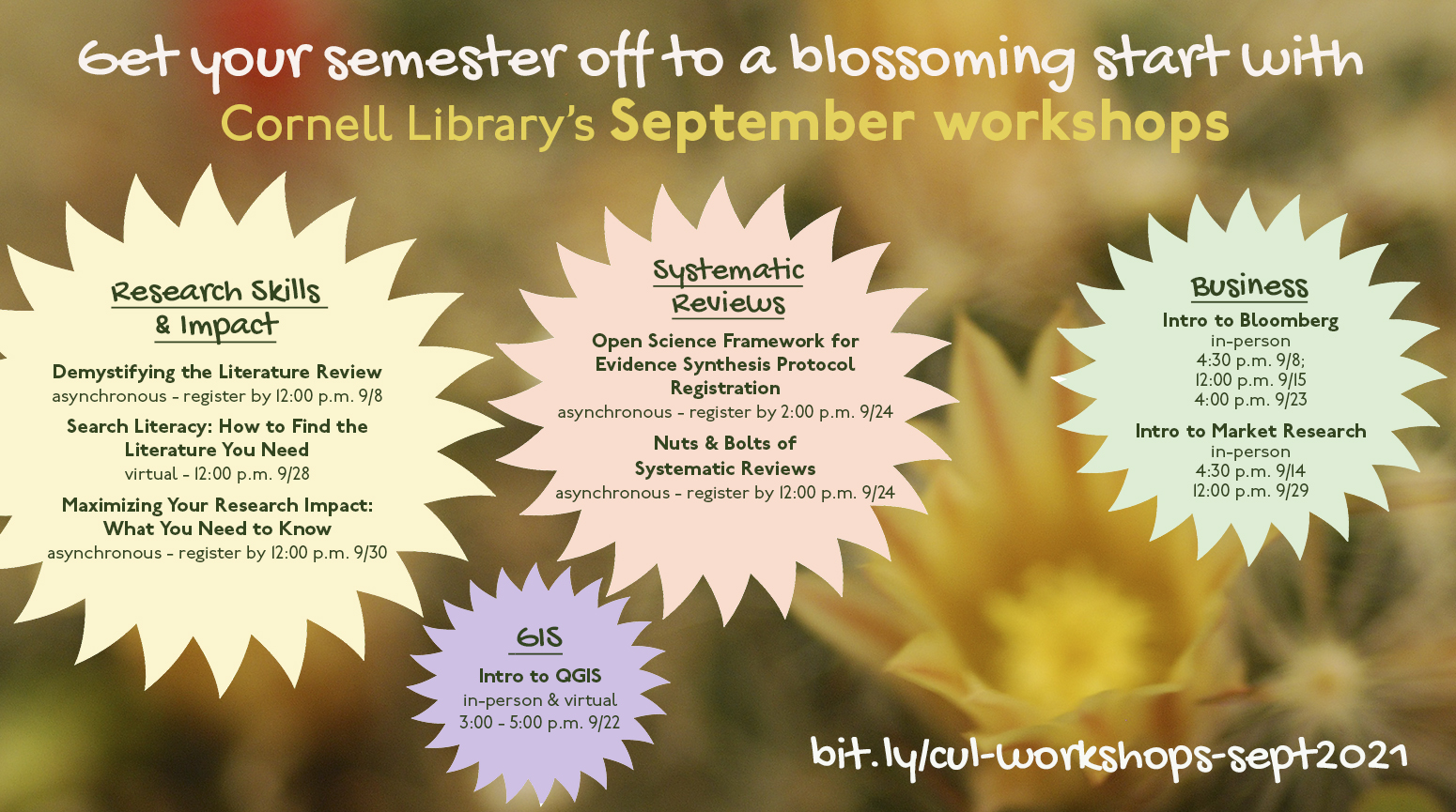 fall workshop flyer