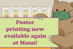 Poster printing now available at Mann